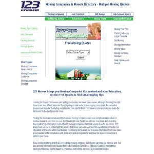 Moving Companies - 123movers