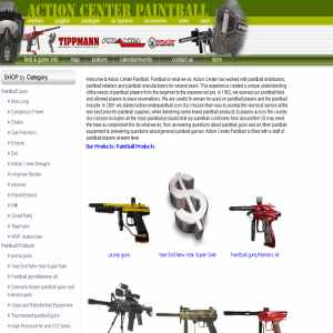 Paintball Products - Action Center Paintball