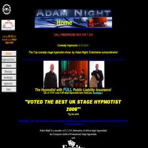 Adam Nights comedy stage hypnotists and hypnosis show