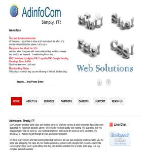 Adinfocom.Com - WebHosting, Domains, Web Designing