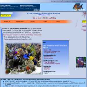 Aquarium database