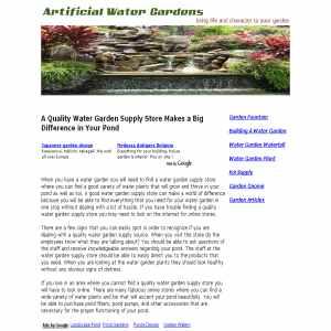 Artificial Water Gardens