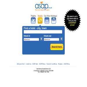 ASAP.co.uk - Great deals for all your European travel requirements