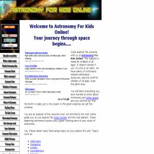 Astronomy for kids online