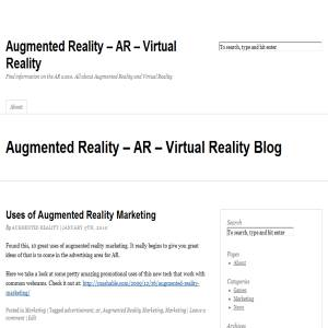 Augmented Reality - a personal view on AR