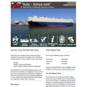 Car Shipping to Kenya - Auto Kenya Ltd