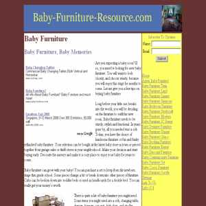 Baby furniture