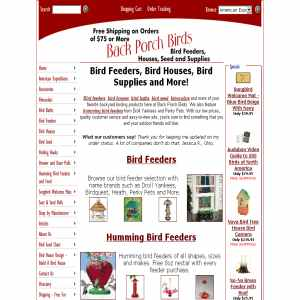 Back Porch Birds | Bird Feeders & More
