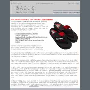 Custom Logo on Flip Flops - Bagus Sandals