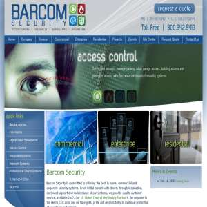 Barcom Security | Home, Commercial - Burglar / Fire Alarms
