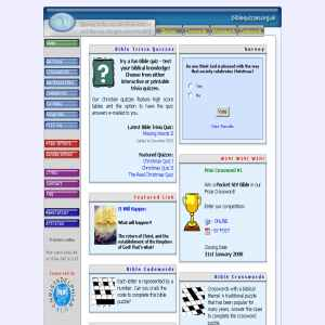 Bible Quiz and Puzzle Site