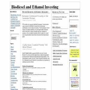 Biodiesel & Ethanol Investing