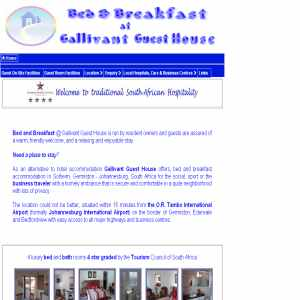 Bed & Breakfast at Gallivant Guest House