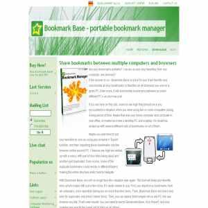 Bookmark Base | Intelligent bookmarks organizer
