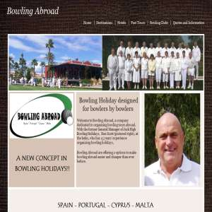 World bowls tours & bowls holidays abroad