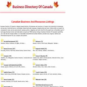 Business Web Directory Of Canada