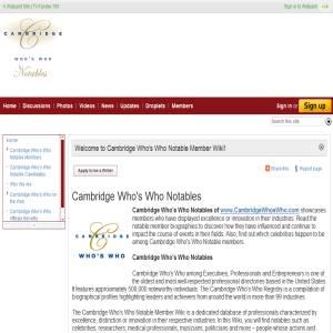 Cambridge Who