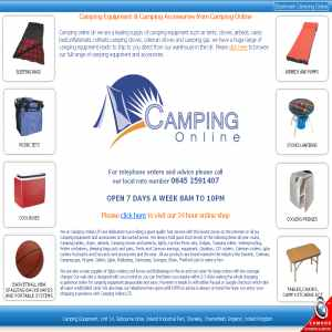 Camping Equipment UK
