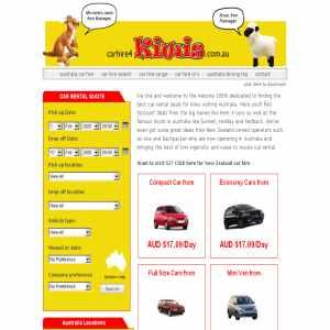 Car hire Australia  4 kiwis