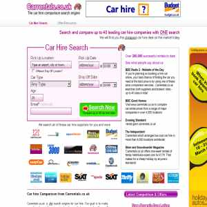 Carrentals.co.uk  - Car hire comparison search engine