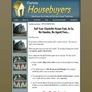 Charlotte House for Cash to Professional Homebuyers