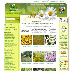 Cheap Seeds sells high quality flower seeds with free shipping