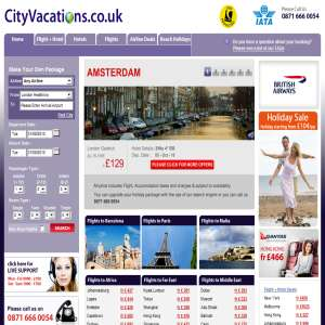 City Vacations - Book Cheap Flights