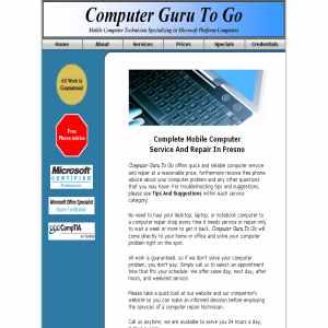 Computer Guru To Go - Fresno Computer Service