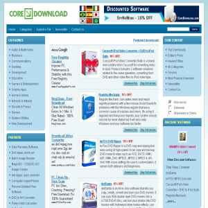 CoreDownload - download shareware & freeware