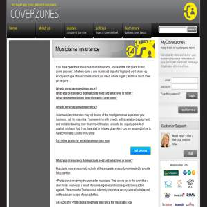 Coverzones Public liability insurance for musicians