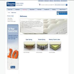 Mattresses from Dreams UK