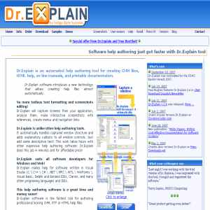 Dr.Explain - Software help authoring tools