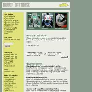 Motorsport Driver Database