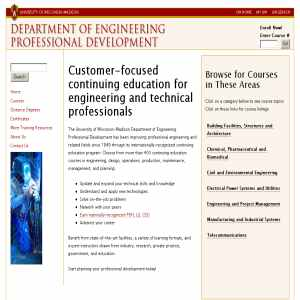 Engineering Professional Development - University of Wisconsin - Madison
