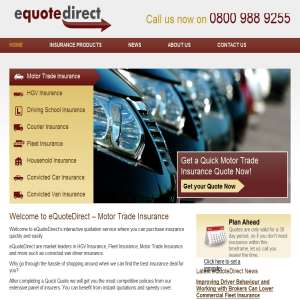 eQuoteDirect -  Motor traders Insurance
