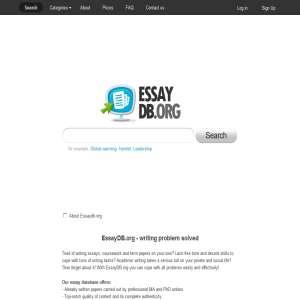 Free essays - essaydb.org