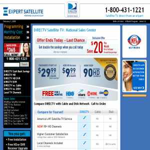 Satellite tv direct from an eXpert