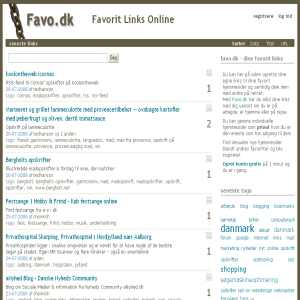Favourite Websites in Denmark