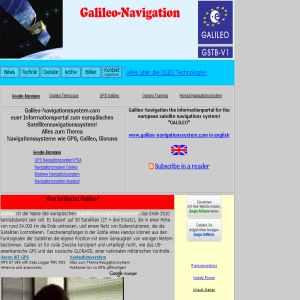 Navigation system Galileo