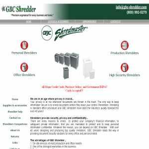 Office Base Shredder - Quality Shredmaster