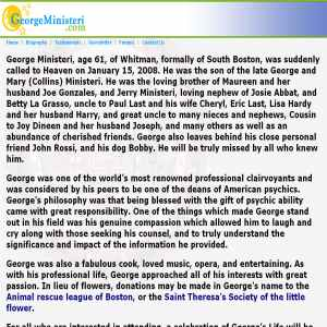 George Ministeris Psychic Phone Readings