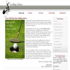 Free Golf Tips