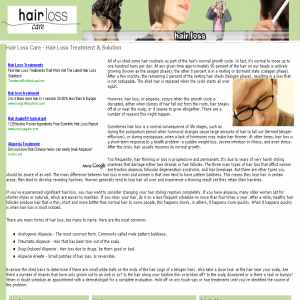 Hair Loss Care Info