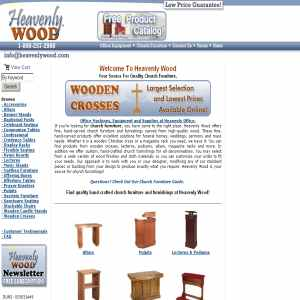 Heavenly Wood - Custom Handcarved Wood Church Furniture