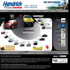 Hendrick Cadillac car dealership, North Carolina