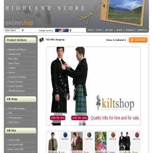 Kilts, kilt hire, Scottish gifts