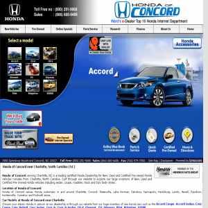 Honda autos car dealer Carolina