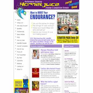 Hornet Juice Sports Drink Burns Fat for Energy & Endurance