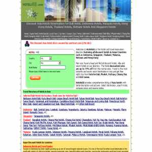 Discount Hotels in Bali, Singapore Hotels, Malaysia & Thailand