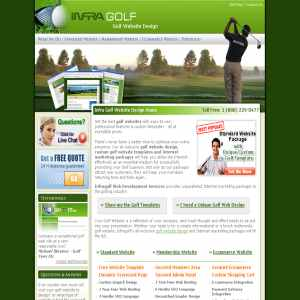Golf Web Design by Infra Golf